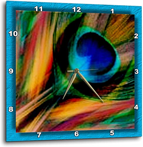 3dRose Feather of a Peacock-Wall Clock, 15-inch DPP_25833_3