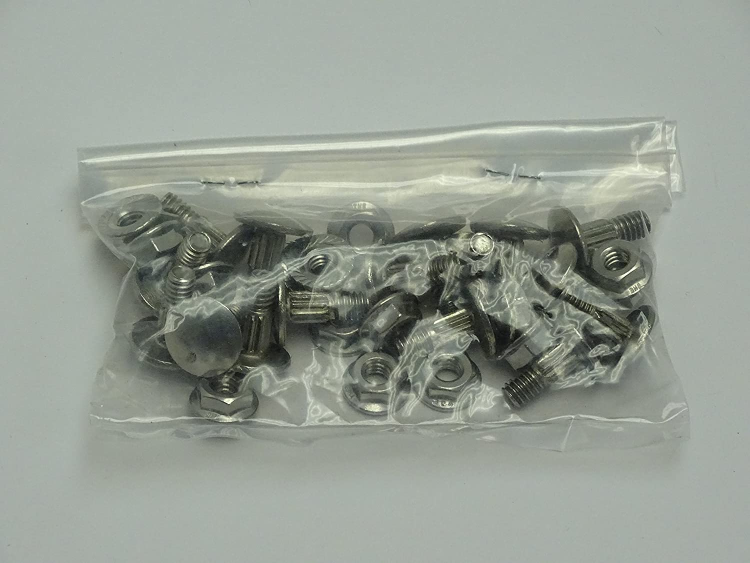 Genuine Whiting Roll Up door SST nut and bolt package for 4 hinges on a 1//4 door