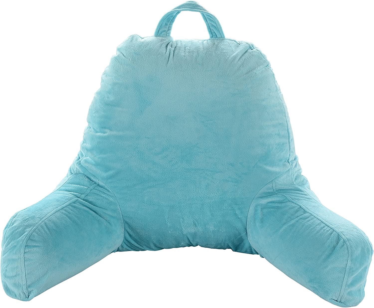 Sky Blue Cheer Collection Kids Size Reading Pillow with Arms for Sitting Up in Bed