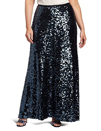 5f247e197d7 Calvin Klein Women s Plus-Size Sequin Maxi Skirt