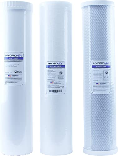 Big Blue Water Filters – Sediment GAC Carbon Pack of 3 4.5 x 20