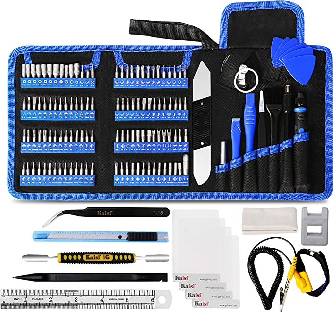 Amazon.com: Kaisi 136 in 1 Electronics Repair Tool Kit Professional Precision Screwdriver Set Magnetic Drive Kit with Portable Bag: Computers & Accessories