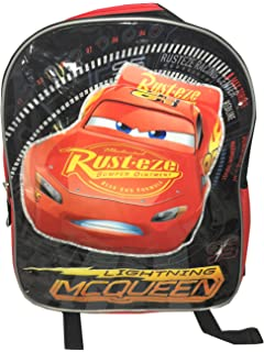 Amazon.com  Disney Pixar Cars Lightning McQueen 15-inch Kids ... c7904bf81a844