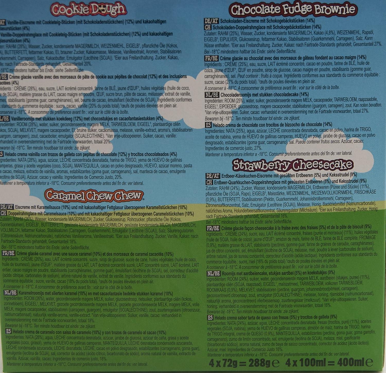 Ben & Jerrys Classic Mix Helado Tarrina - 4 Helados: Amazon.es: Alimentación y bebidas