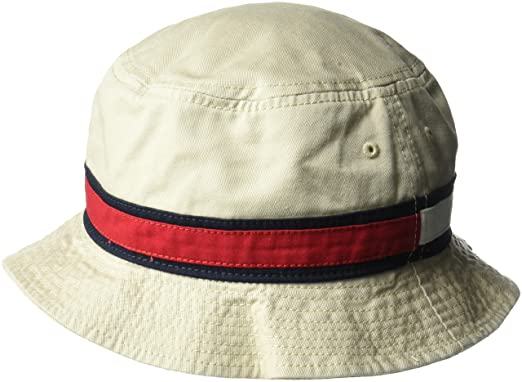 21a3ab6a Tommy Hilfiger Men's Dad Hat Flag Bucket Baseball Cap, Stone, One Size