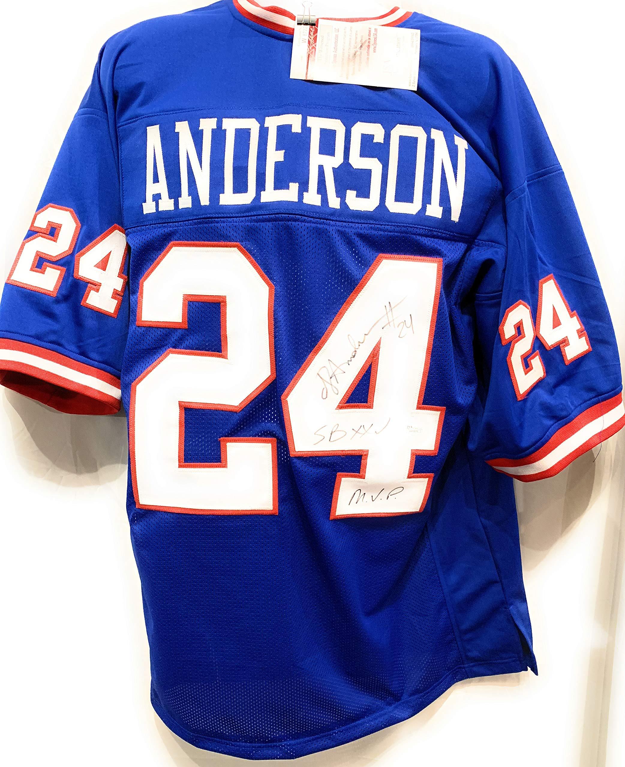 Ottis Anderson New York Giants Signed Autograph Custom Jersey JSA Certified