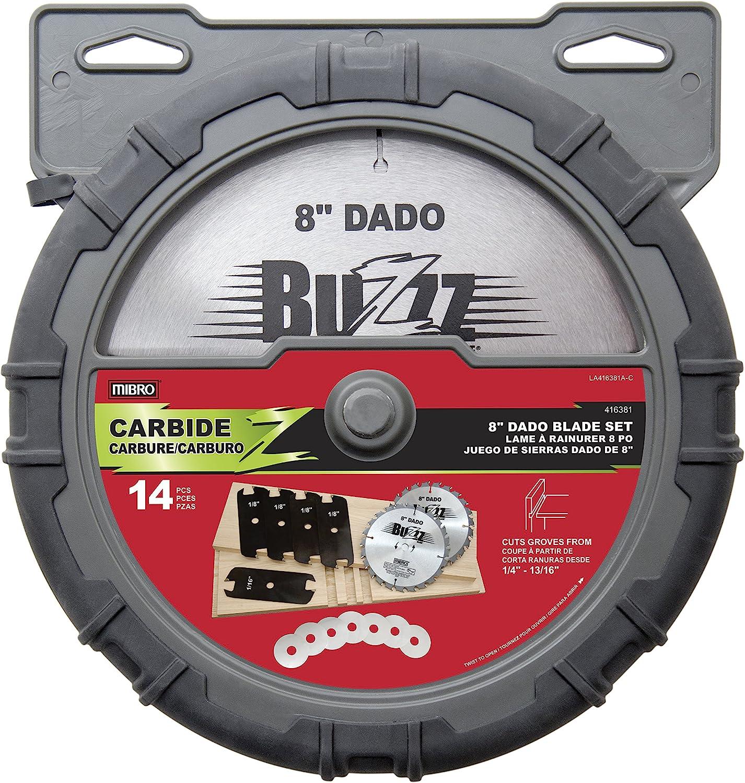 Mibro Group 416381 8-Inch Carbide Stacking Dado Blade Set