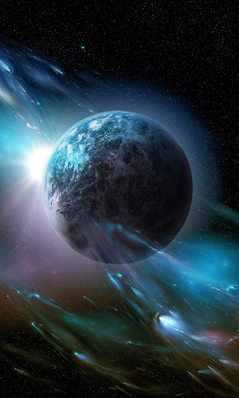 Wallpaper earth planet space galaxy astronaut k Space