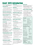 Microsoft Excel 2013 Introduction Quick Reference Guide (Cheat Sheet of Instructions, Tips & Shortcuts - Laminated Card)