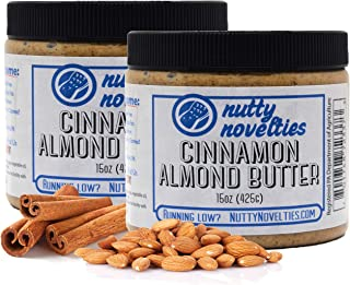 product image for Nutty Novelties Cinnamon Almond Butter - High Protein, Sweet Almond Butter - All-Natural, Light Almond Butter Free of Cholesterol & Preservatives - Pure Almond Butter - 30 Ounces