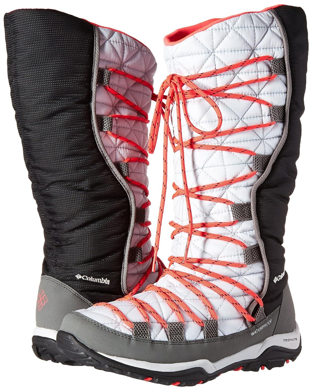 Columbia Women's Loveland Omni-Heat Snow Boot B0183O0QQC 5.5 B(M) US|Cool Grey, Laser Red