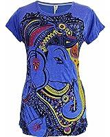 Yoga Shirts Camiseta Ganesha Para Mujer Dios Hindú del Elefante Om T-Shirt