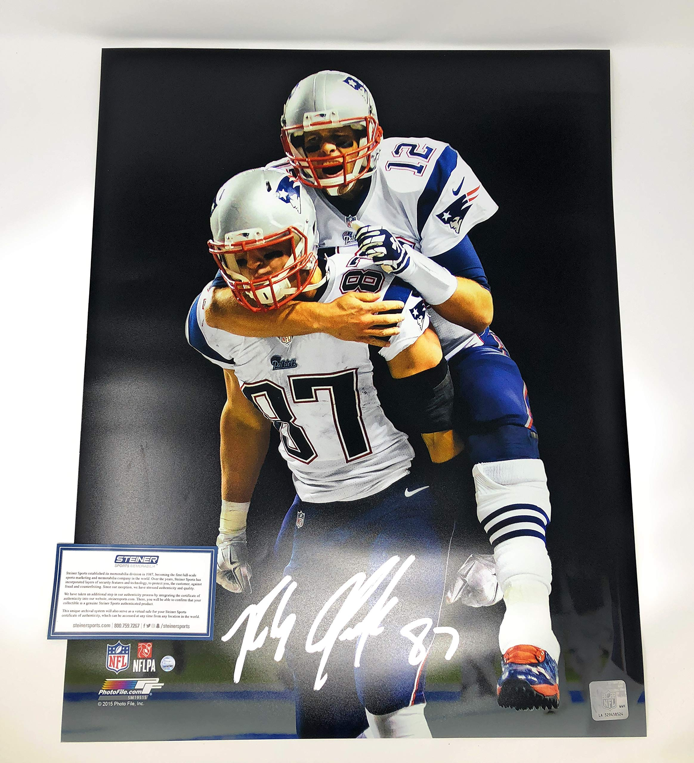 Rob Gronkowski New England Patriots Signed Autograph 16x20 Photo Photograph Steiner Sports Certified