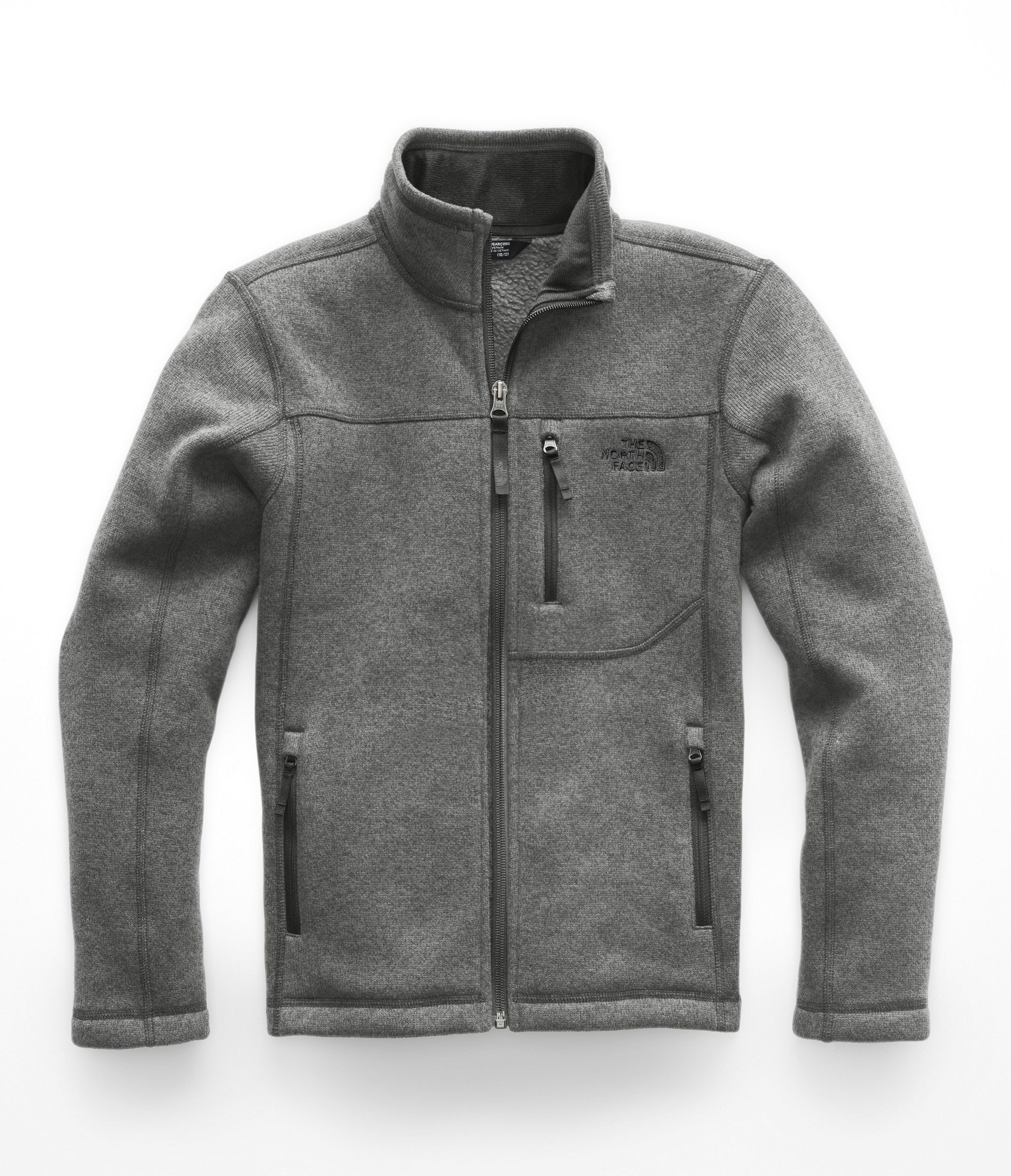 The North Face Kids Boy's Gordon Lyons Full Zip (Little Kids/Big Kids) TNF Medium Grey Heather/Graphite Grey Medium