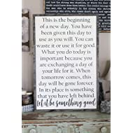 This is the Beginning of a New Day Wall Art/Hand Painted Sign/Farmhouse Decor/Wall Decor/Home Decor/Modern Artwork/Large Framed Artwork