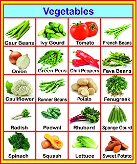 Buy Vegetables Chart 50 X 70 Cm Book Online At Low Prices In India