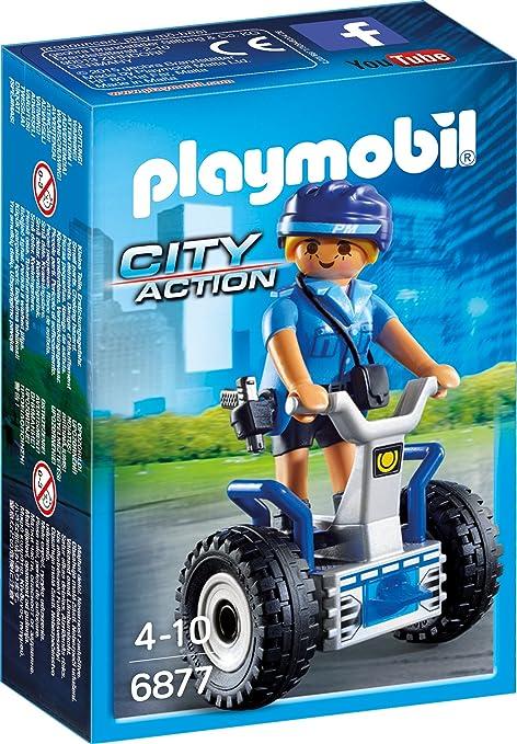 Playmobil Öffentliche Dienste Playmobil 6877 Polizistin mit Balance-Racer Segway Polizei