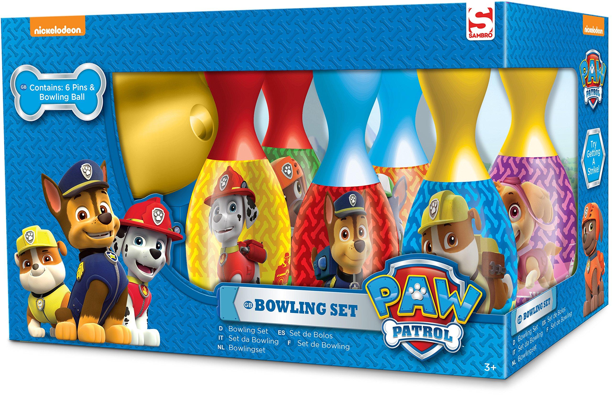 Paw Patrol 6 pin Bowling set