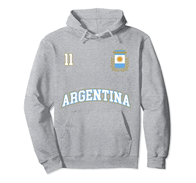 Argentina Hoodie No. 11 Soccer Team Shirt Seleccion Futbol at Amazon Mens Clothing store: