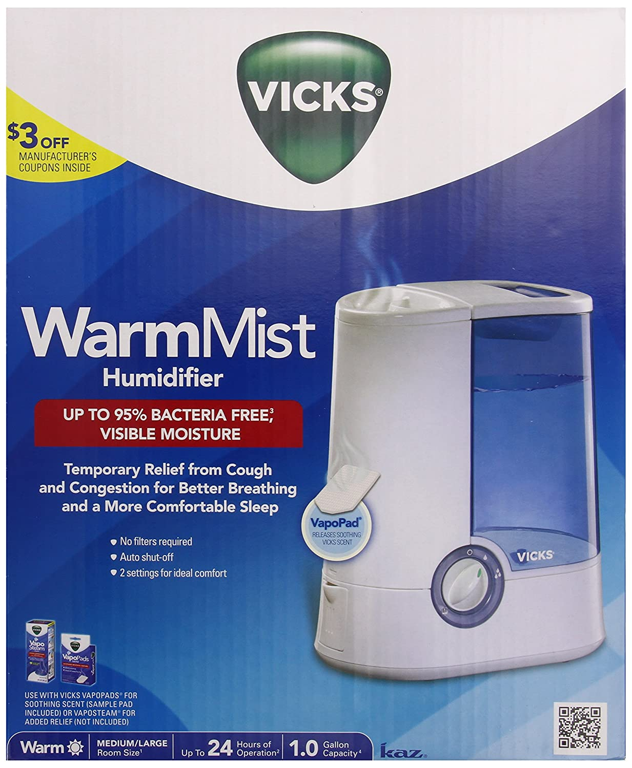 Vicks Warm Mist Humidifier V750