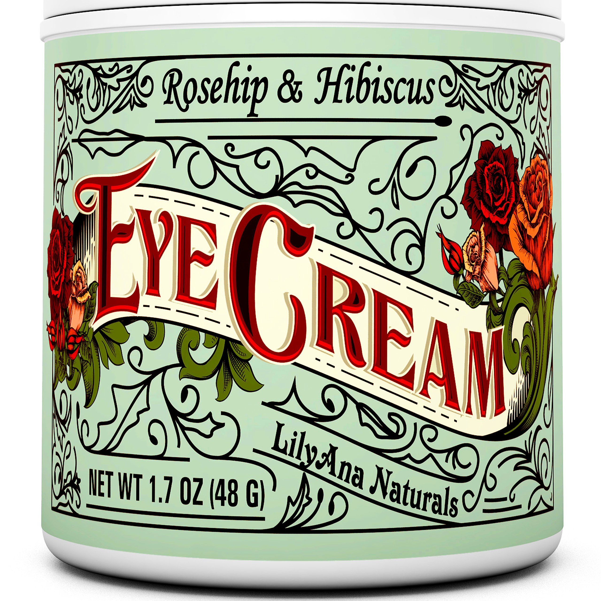 Eye Cream Moisturizer (1.7 oz) 94% Natural Anti Aging Skin Care