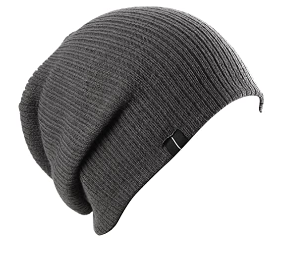 Slouch Slouchy Beanie Soft Loose Beanie Hat Charcoal Gray by Highly ... dc141140aeb