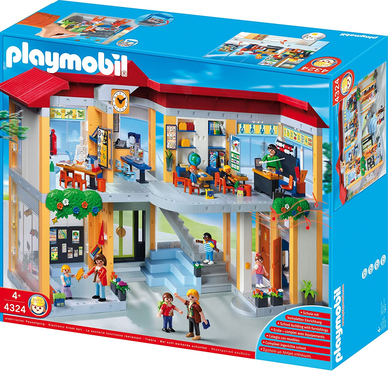PLAYMOBIL Furnished School Building Construction Set