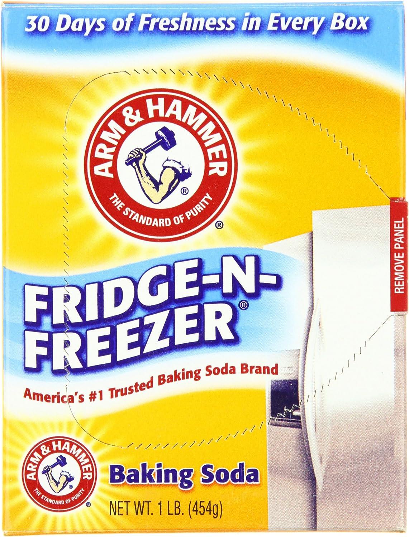 Arm & Hammer Baking Soda Fridge Freezer Package, 16-Ounce Boxes (Pack of 12)