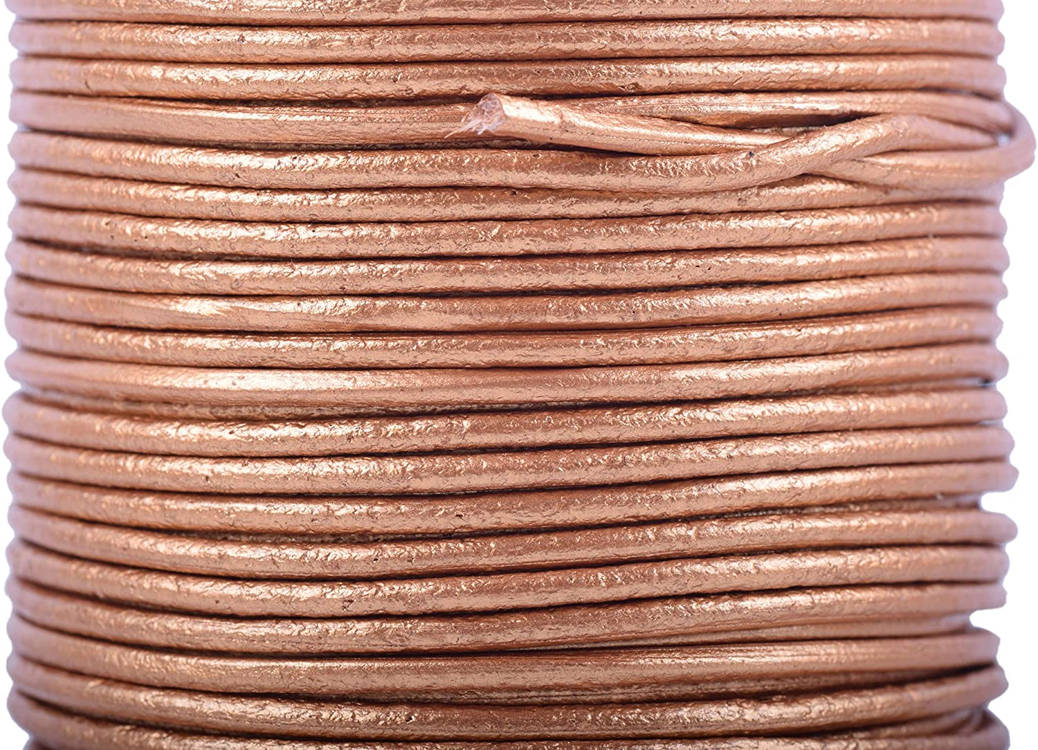 KONMAY 1Roll 25 Yards 2.0mm Distressed Brown Color Soft Round Real Jewelry Leather Cord
