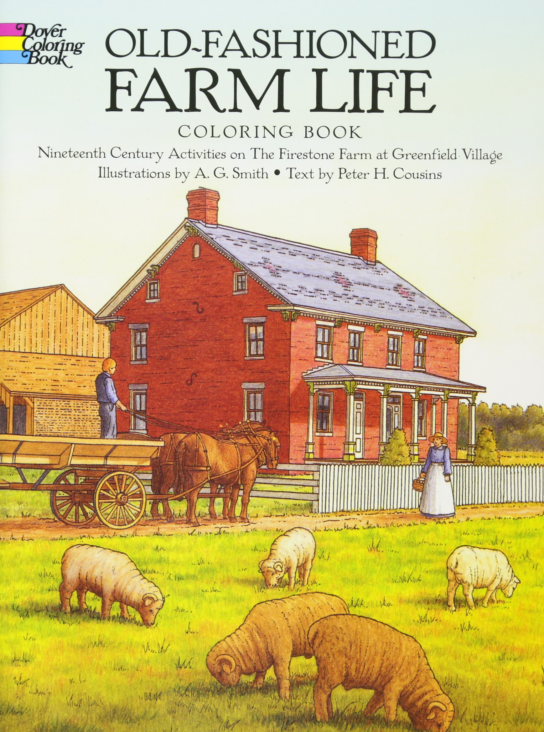 Old Fashioned Farm Life Coloring Book product image