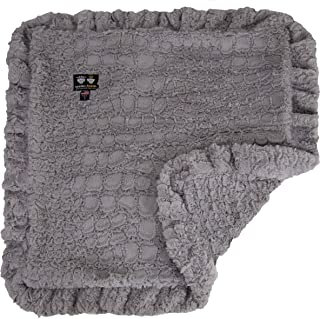 product image for Bessie and Barnie Serenity Grey Luxury Ultra Plush Faux Fur Pet, Dog, Cat, Puppy Super Soft Reversible Blanket (Multiple Sizes)