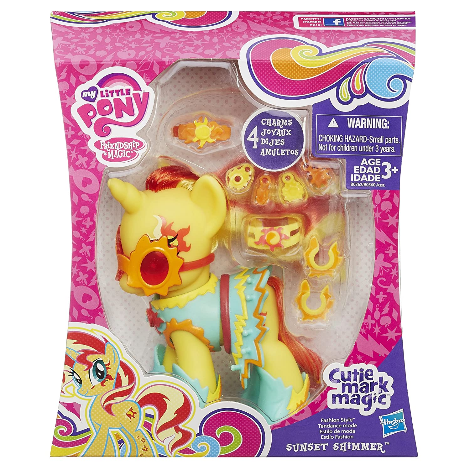My Little Pony Princess Cutie Mark Magic Fashion Style Sunset Shimmer Figure B0362AS0