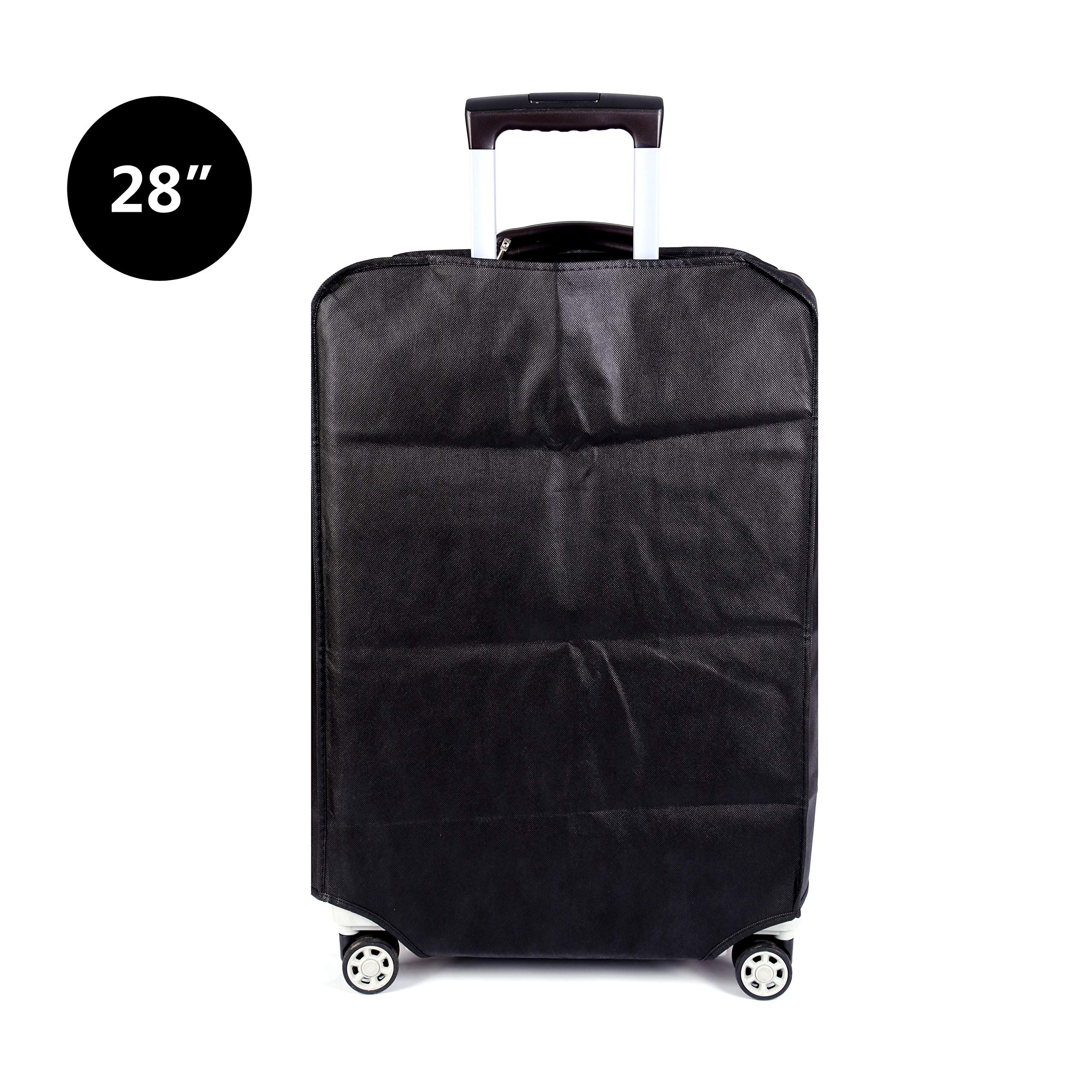 Travel Luggage Cover Plain Color Suitcase Cover,3 Colors,Fits 28 Inch,Black by CXGIAE (Image #3)