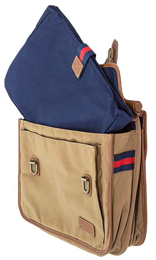 ae9c8c7d0b Amazon.com | Tommy Hilfiger Workhorse Dowel Flap-Over Messenger, Khaki | Messenger  Bags