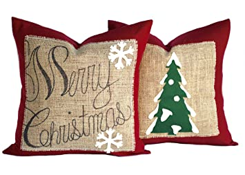 """Amazon.com: 1 diseño con texto """"Merry Christmas y 1 ..."""