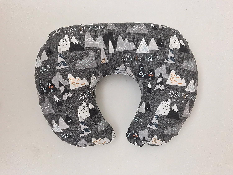 Nursing Pillow Cover - Charcoal Adventure Awaits