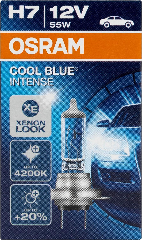 Osram Cool Blue Intense H7 Scheinwerferlampe Für Halogenscheinwerfer Xenoneffekt Für Weißlicht 64210cbi 12 V Pkw 1 Faltschachtel 1 Stück Auto