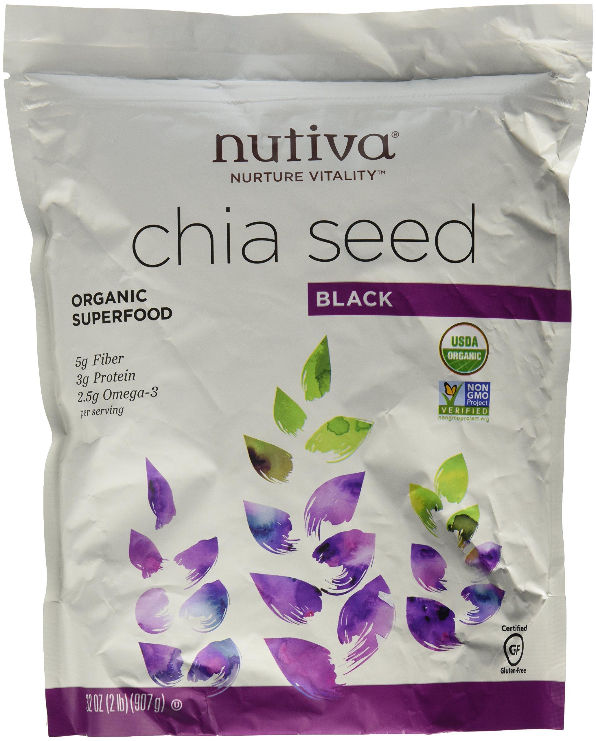 Nutiva Organic Chia Seeds (3 Pack - ORGANIC 32 Ounce)