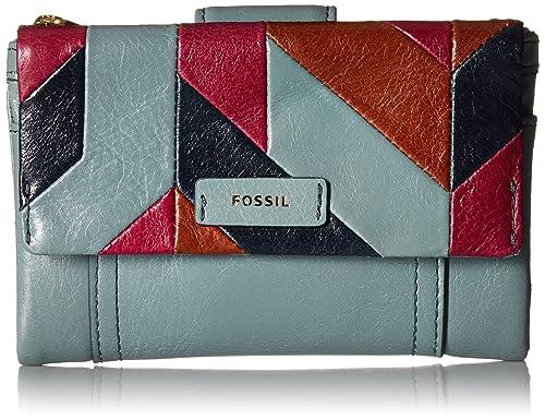 Fossil Ellis Multifunction Wallet Steel Blue Wallet