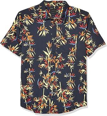 RVCA Camisa de Manga Corta con Botones para Hombre: Amazon.es: Ropa y accesorios
