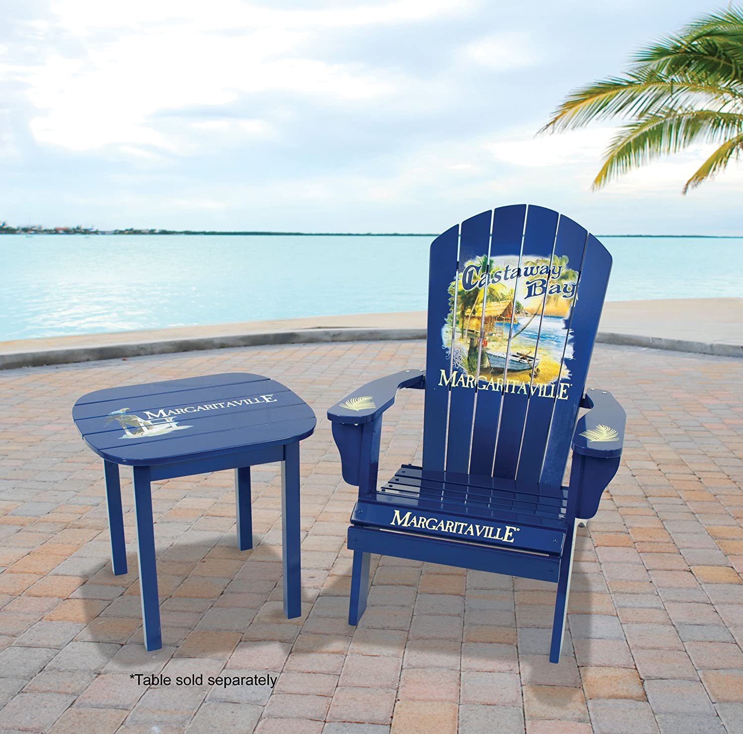 Amazon.com : Margaritaville Outdoor Adirondack Chair, Castaway Bay : Patio,  Lawn U0026 Garden