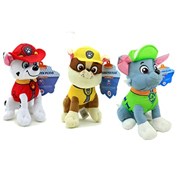 amazon com disney 8 paw patrol character rubble marshall and