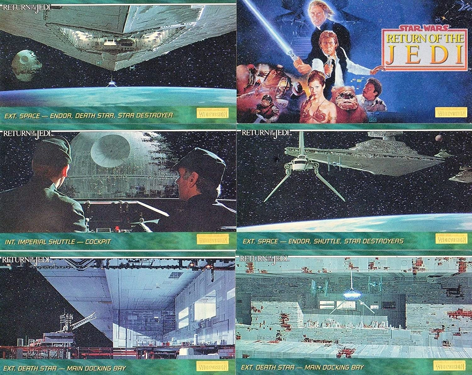 STAR WARS RETURN OF THE JEDI WIDEVISION 1995 TOPPS COMPLETE BASE CARD SET OF 144