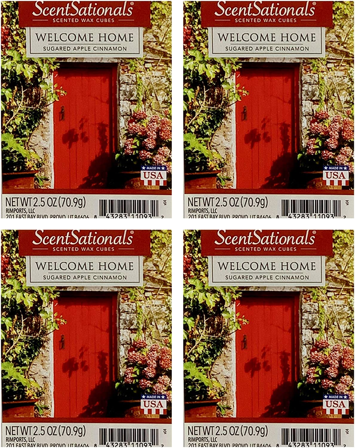 ScentSationals Welcome Home Wax Cubes - 4-Pack