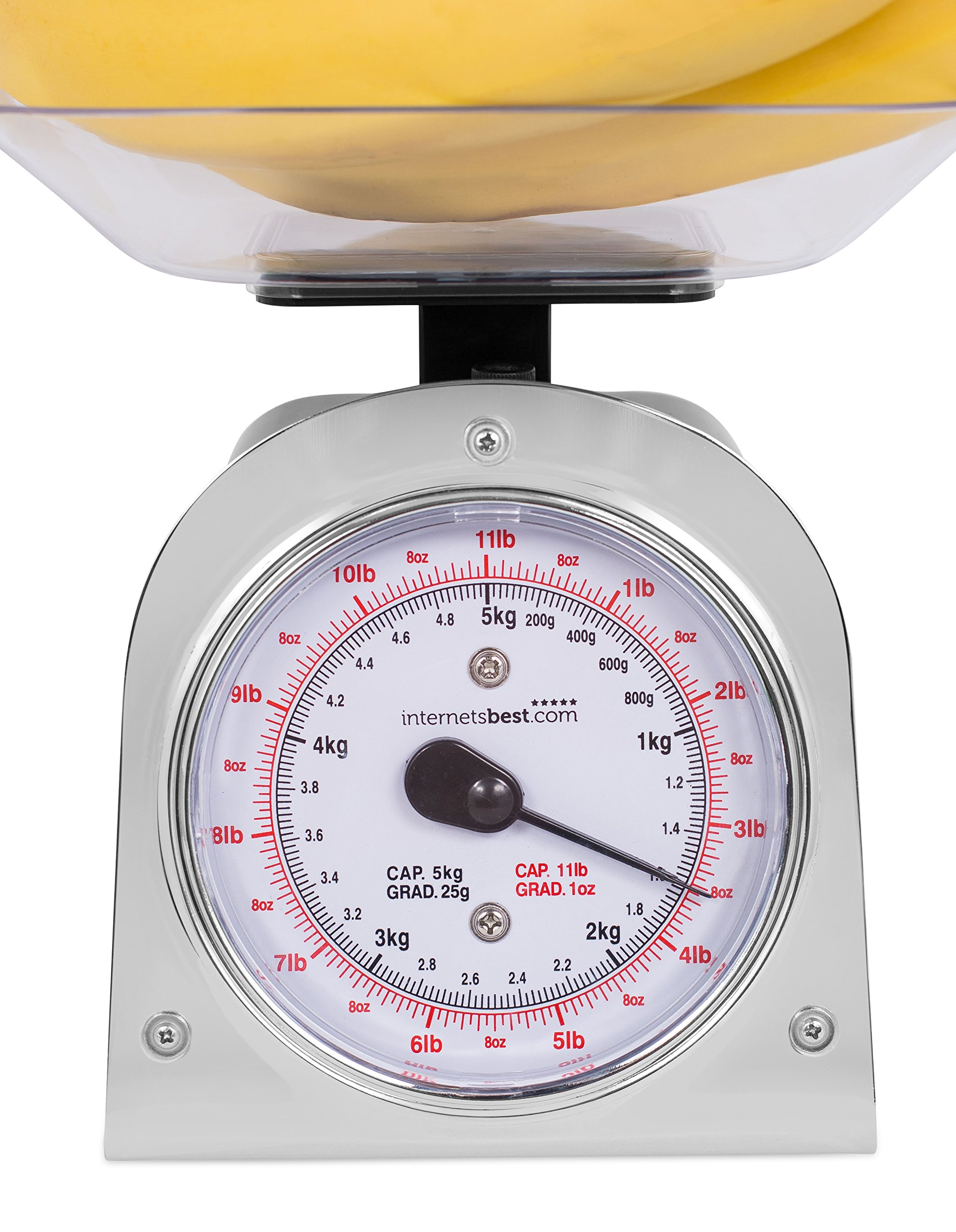 Internet's Best Mechanical Kitchen Food Weight Scale with Bowl | Accurate Measurements | Weighs Up 11 Lbs | 1KG - 5KG by Internet's Best (Image #5)