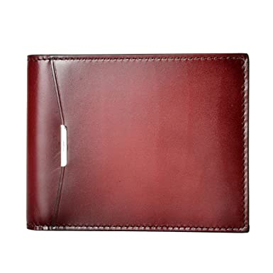 dee4ae6ec3fa Image Unavailable. Image not available for. Color  Salvatore Ferragamo Men s  Burgundy 100% Leather Bifold Wallet