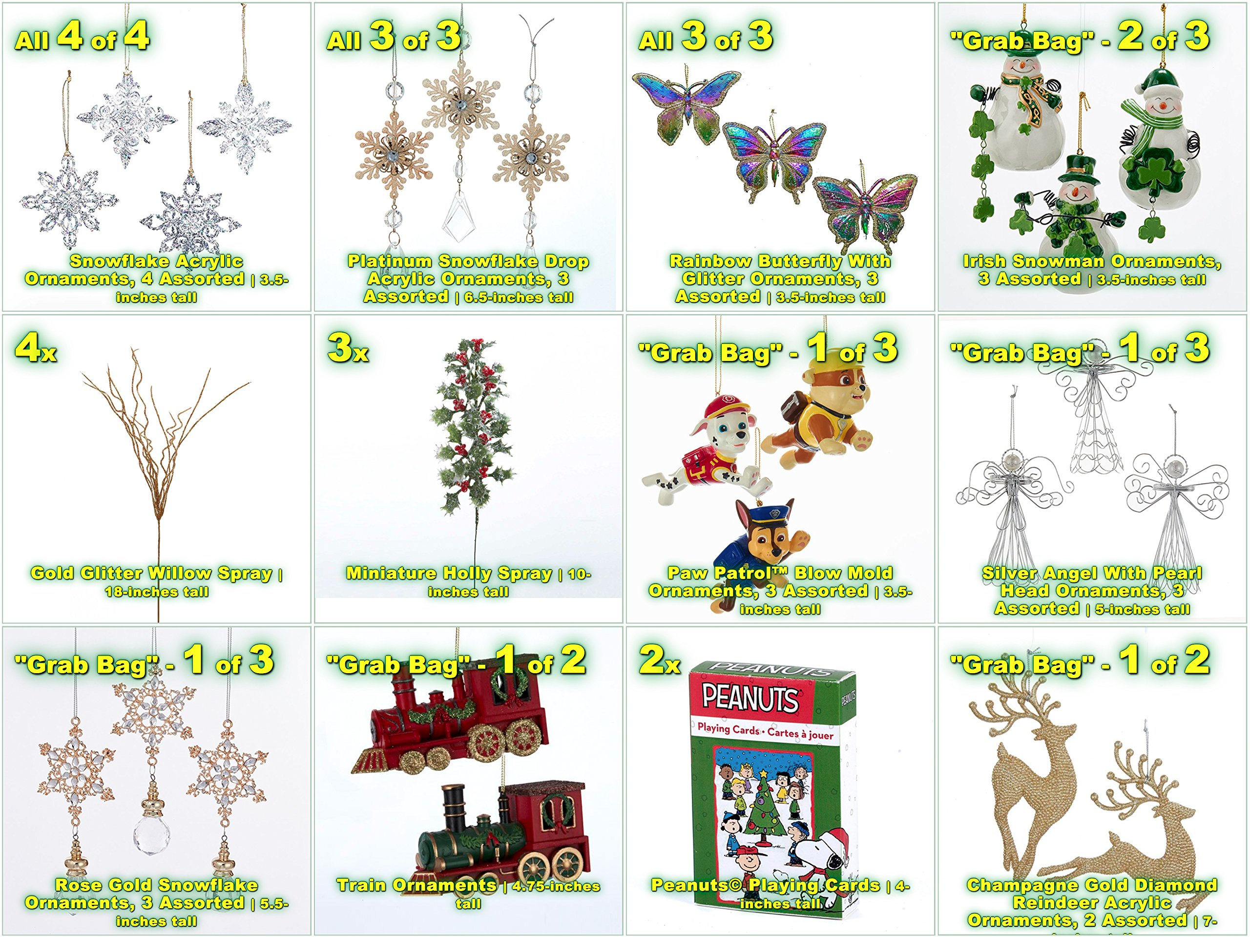 JZ Bundles Starter Set - Best of Christmas Option C - Kurt Adler - 37-Piece Bundle - A Bundle of Christmas Ornaments Great Gift by JZ Bundles (Image #2)