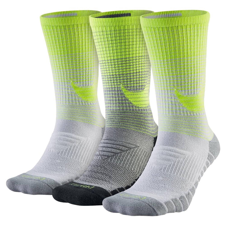 ナイキ(NIKE) 3P DRI-FIT トリプルフライ クルー SX4966 907 B07B1V63HB  Heather Volt/White/Grey Large (Mens Shoe size 8-12, women 6-10)
