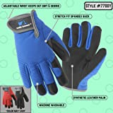 Kids Stretch Work Gloves with Synthetic Leather