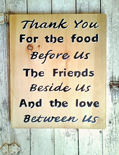 Amazon.com: Hand Painted Family Wooden Wall Art Quote, Kitchen and ...